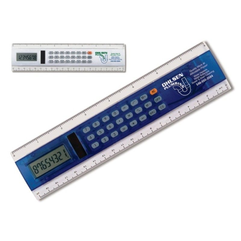 "Promotional 8"" Calculator Solar Ruler"