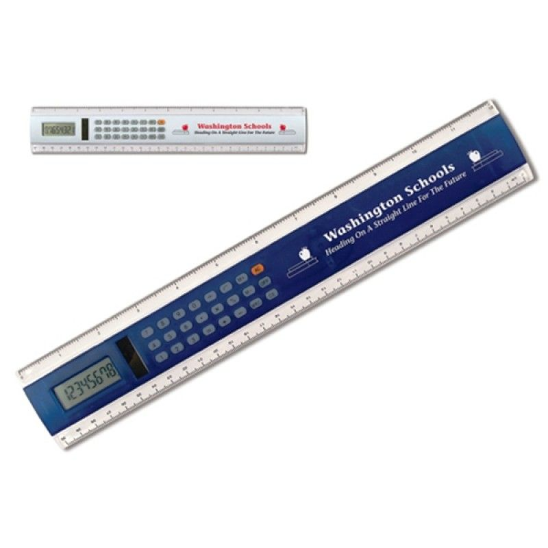 "Promotional 12"" Calculator Solar Ruler"