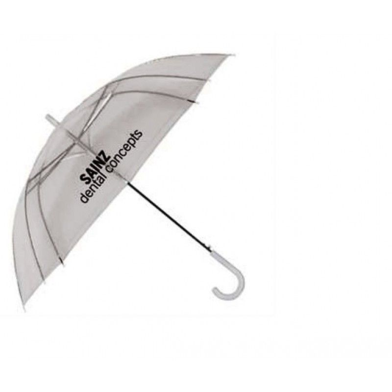 "Promotional Clear Auto Open Umbrella, 46"" Arc"