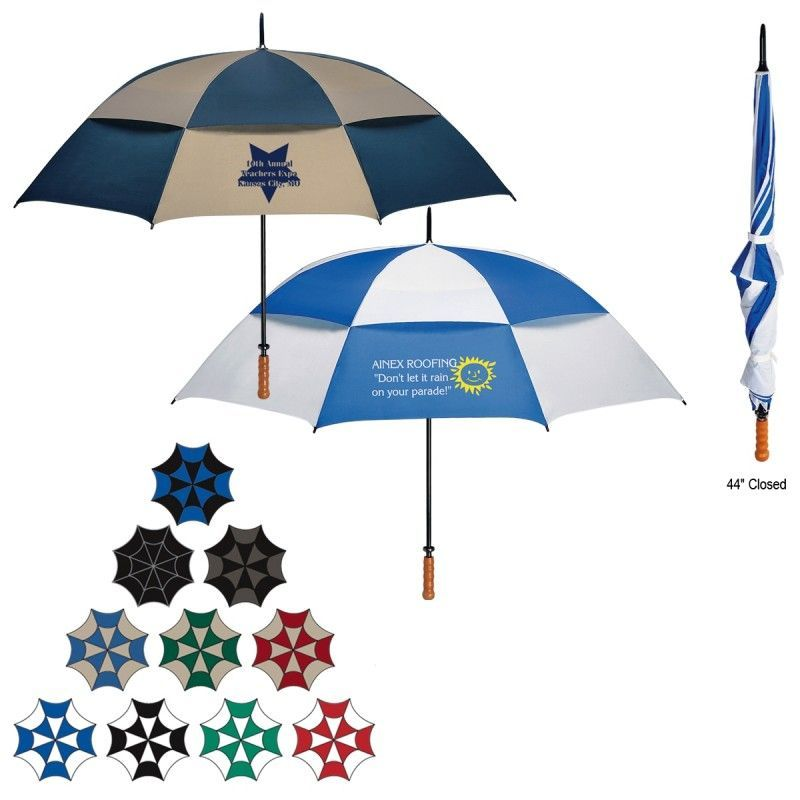 "Promotional 68"" Arc Vented Windproof Umbrella"