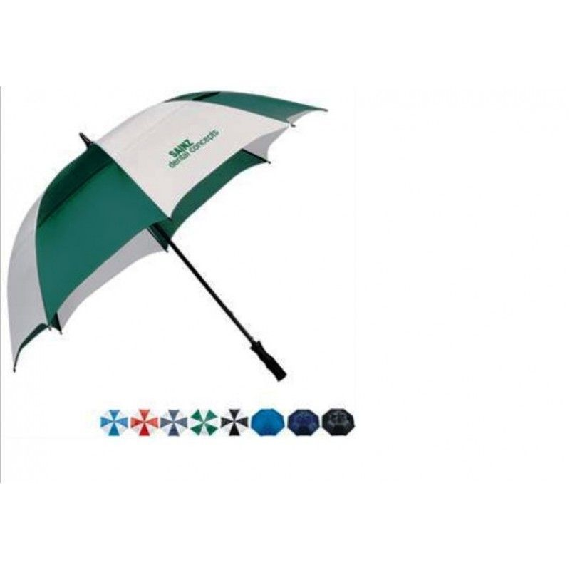 "Promotional Course Vented Golf Umbrella, 62"" Arc"