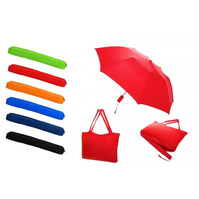 Promotional All-in-one Tote Bag/Folding Umbrella