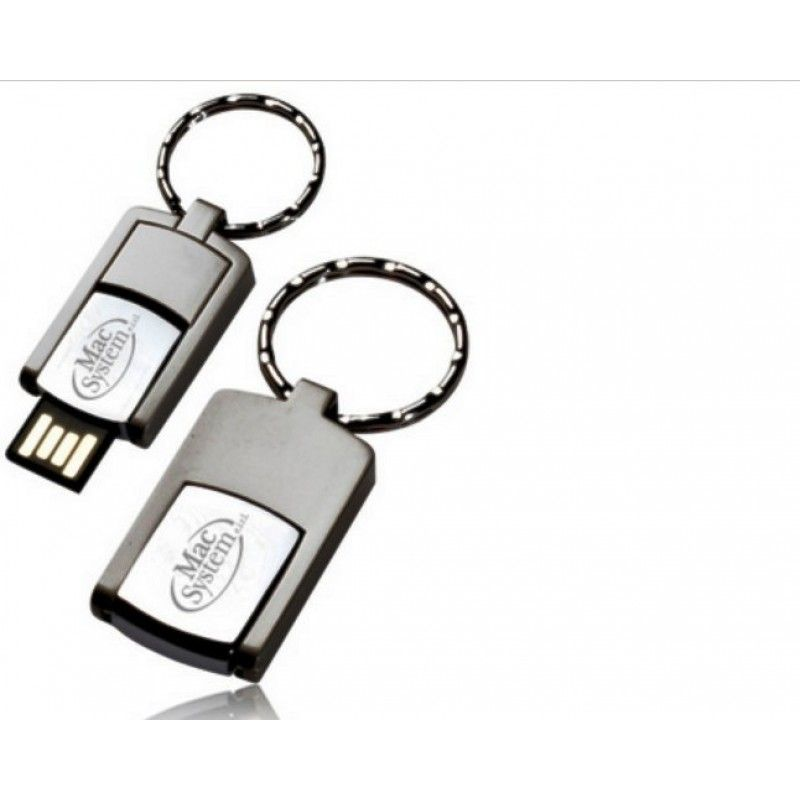 Promotional 1GB Mini Swivel Metal Custom Flash Drive Key Chains