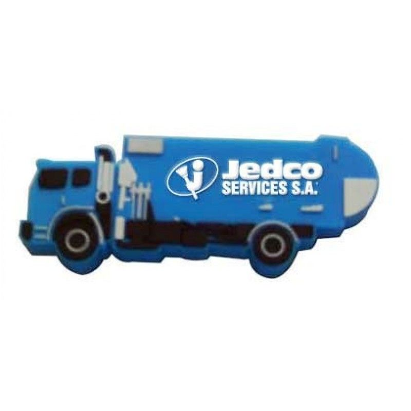 Promotional 2 Gb Dump Truck PVC USB Flash Drive