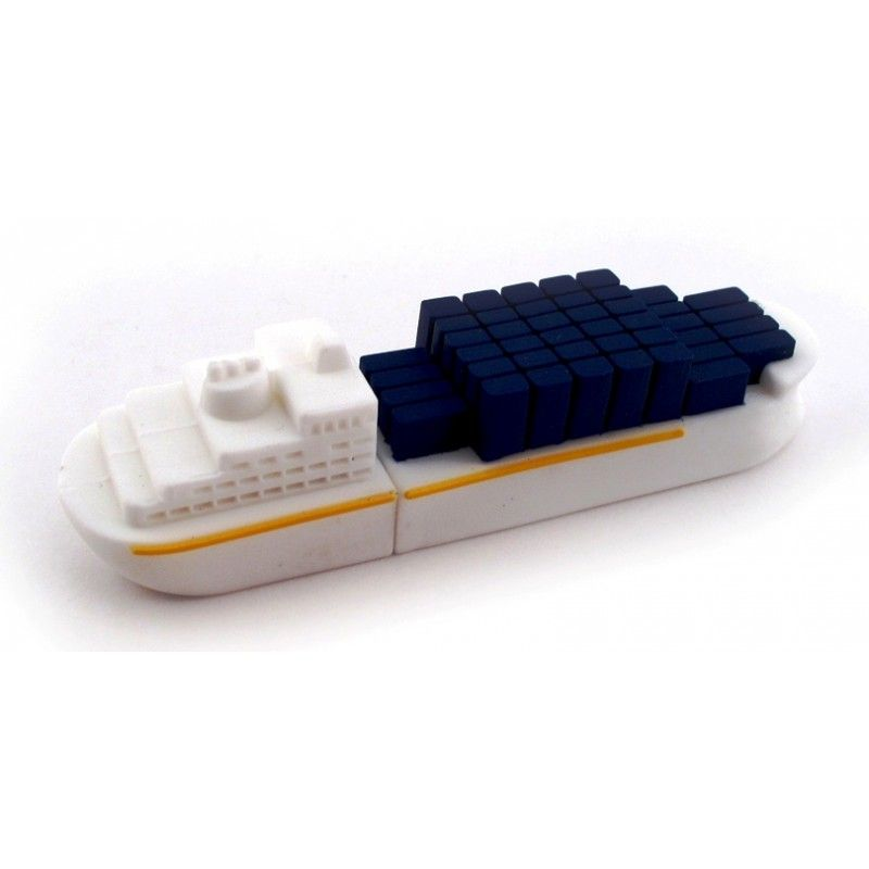 Promotional 2 Gb Pvc Cargo Ship Memory Drive